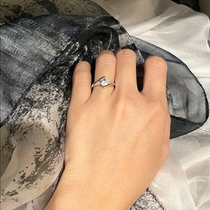 925 Sterling Silver Engagement Ring - CZ